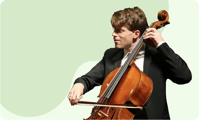 Cellist at the Orchestra